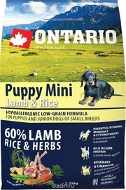 Ontario Puppy Mini Lamb/Rice фото